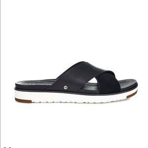 UGG Kari Cross Slide Suede Sandals